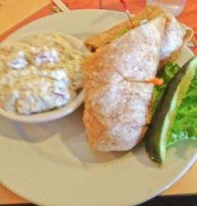 Furnace Creek curried chicken salad wrap
