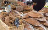 Delicious breads at the market