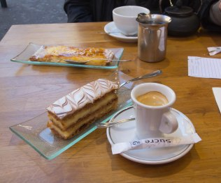 Coffee and pastries at La Boutique du Glacier