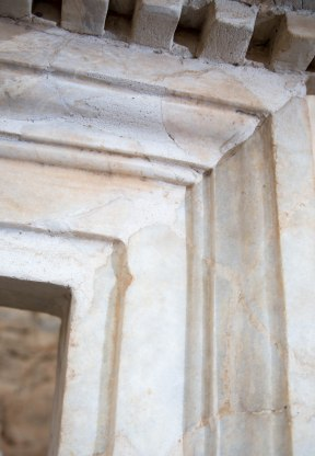 Marble door frame in a Terrace House