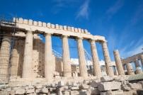 The Parthenon under restoration