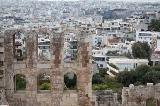 Odeon of Herodes Atticus, Athens in the background