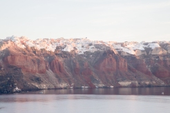 The impossibly precarious villages of Santorini