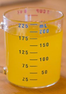 About 180 mL of clarified butter from 2 sticks (½ pound) unslated butter