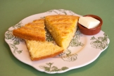 Warm, fresh cornbread and butter - almost a meal by themselves