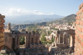 View of Mt Etna from Teatro Greco