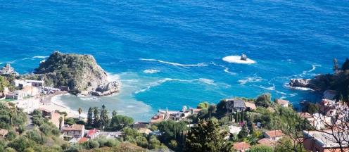 The beautiful sea below Taormina