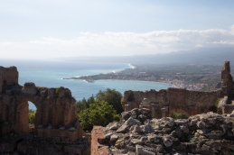 View of the Sicilian Coast from Teatro Greco