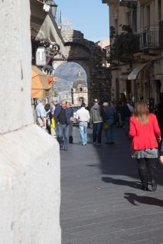Street scene in Taormina