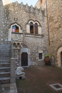 Courtyard of Palazzo Corvaja dating to Arab occupation in the 10th Century
