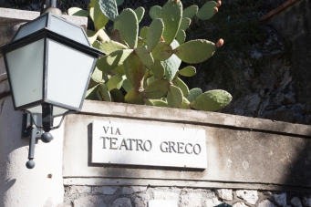 Along the street to Teatro Greco