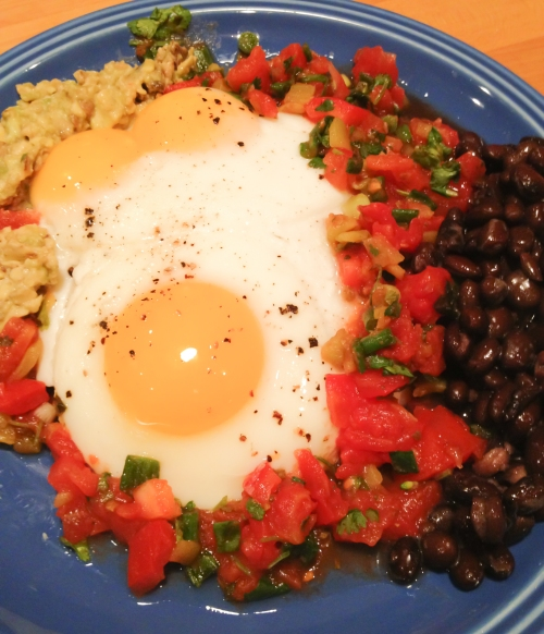 Huevos rancheros with black beans - there is no better breakfast