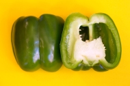 "Green pepper, one of the ""Holy Trinity"" of Creole and Cajun cooking"