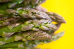 Fresh asparagus tips