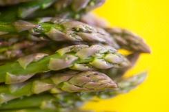Fresh asparagus tips