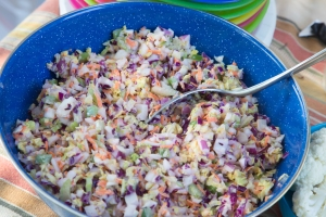 Finished coleslaw