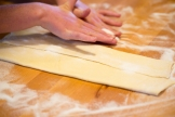Fold each side of the puff pastry sheet into the middle