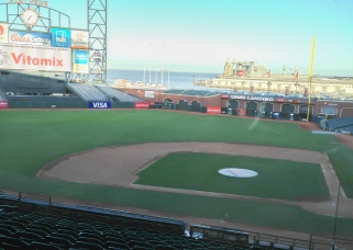 AT&T Park and San Francisco Bay