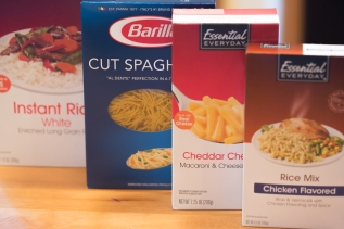 Quick-cooking rice and pasta are good bases for main dishes