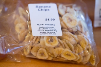 Banana chips make a great dessert or you can put them in the gorp