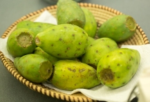 Prickly pear fruits or tunas can be peeled and eaten or used for juice