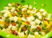 Jicama nopalito salad