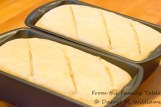 Tops of the unbaked loaves just before putting them in the oven