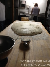 Letting the dough rest