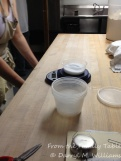 Weighing the levain