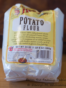 Potato flour for moistness