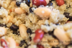 Beans mixed with quinoa