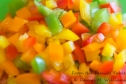 Mixed diced bell peppers