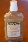 File in the obligate Old Crow bottle