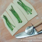 Three or four asparagus stems make a bundle