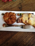 Kouign amann and chocolate banana-almond croissant