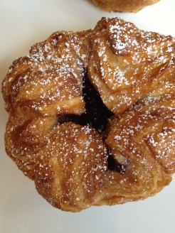 Seasonal pear-berry kouign amann