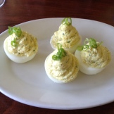 One order of deviled eggs, caviar optional