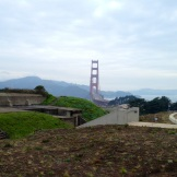 View of Golden Gate Bridge from WWII fortifications