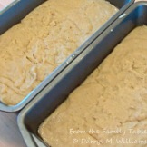 Bread pans filled with scrapple mixture