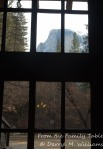 Half Dome from the lobby of the Ahwahnee Hotel