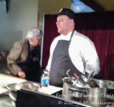 Evan Rich at the cooking demonstration