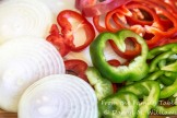 Onions and peppers ready for the stew