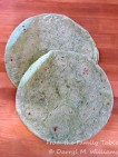 Garden spinach herb wrap-size flour tortillas