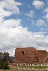 Wonderful New Mexico clouds and the ruined church