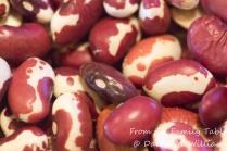Uncooked Anasazi beans