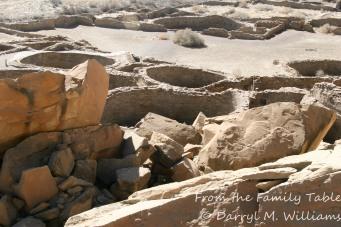 Kivas at Chaco Canyon ruins