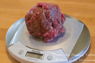 Eight ounces of ground beef for one burger