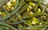 Haricots Verts Vinaigrette with Scallions and Dill