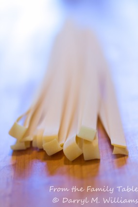 Very long strands of pappardelle