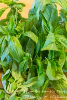 Fresh basil from the garden
